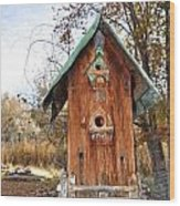 The Birdhouse Kingdom - Spotted Towhee Wood Print