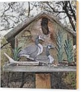 The Birdhouse Kingdom - The Geese A Swimming Wood Print