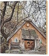 The Birdhouse Kingdom - The Purple Martin Wood Print