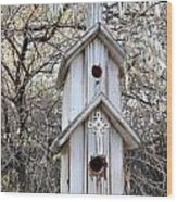 The Birdhouse Kingdom - The Western Wood-pewkk Wood Print