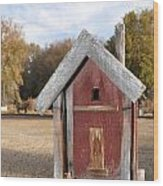 The Birdhouse Kingdom - Western Bluebird Wood Print