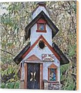 The Birdhouse Kingdom -the Pygmy Nuthatch Wood Print