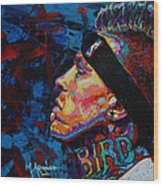 The Birdman Chris Andersen Wood Print