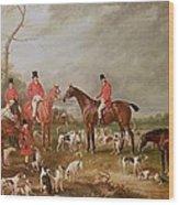 The Birton Hunt Wood Print by John E Ferneley
