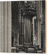 The Bishops Chair Wood Print