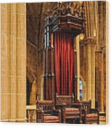 The Bishops Chair II Wood Print