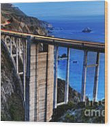 The Bixby Bridge  Wood Print by Marco Crupi