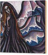 The Black Belladonna Wood Print