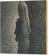 The Black Bow Wood Print by Georges Pierre Seurat