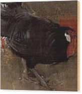 The Black Cock Wood Print