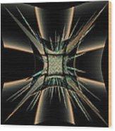 The Black Craft Wood Print