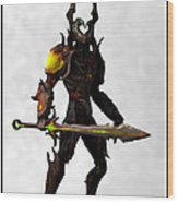 The Black Knight... Wood Print