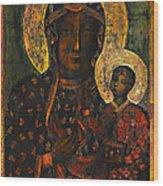 The Black Madonna Wood Print by Andrzej Szczerski
