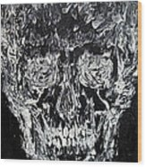 The Black Skull - Oil Portrait Wood Print