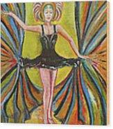 The Black Tutu Wood Print