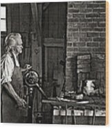 The Blacksmith 2 Monochrome Wood Print