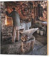 The Blacksmith Wood Print