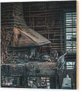 The Blacksmith's Forge - Industrial Wood Print