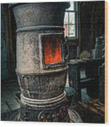 The Blacksmiths Furnace - Industrial Wood Print
