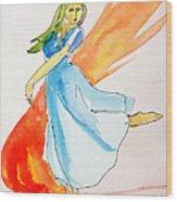 The Blazing Dancer Wood Print