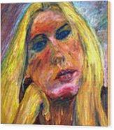 The Blonde 2 Wood Print