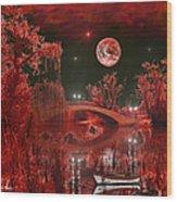 The Blood Moon Wood Print