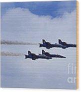 The Blue Angels Wood Print