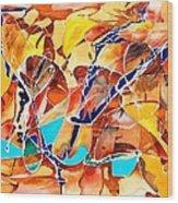 The Blue Bird Wood Print