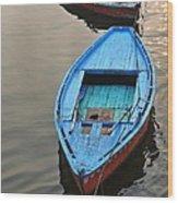 The Blue Boat Wood Print by Kim Bemis