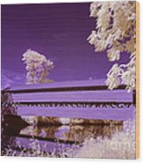 The Blue Bridge Wood Print