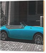 The Blue Car Wood Print