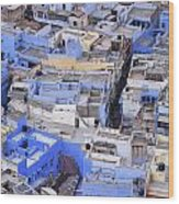 The Blue City Of Jodhpur In India Wood Print