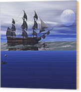 The Blue Deep Wood Print by Claude McCoy