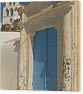 The Blue Door Wood Print