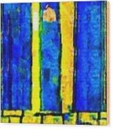 The Blue Doors Of La Rue Des Fauves Wood Print