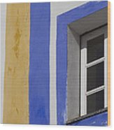 The Blue Framed Window Wood Print