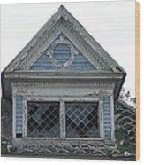 The Blue Gable Wood Print