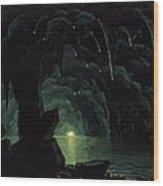 The Blue Grotto Wood Print by Albert Bierstadt