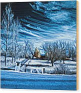 The Blue Hour Wood Print