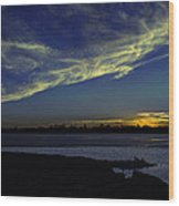 The Blue Hour Sunset Wood Print