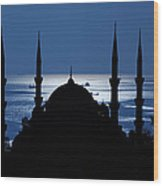 The Blue Mosque Wood Print