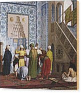 The Blue Mosque Wood Print by Jean Leon Gerome