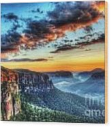 The Blue Mountains Wood Print