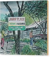 The Blue Mountains Of Jamaica Wood Print