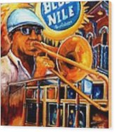 The Blue Nile Jazz Club Wood Print