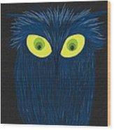 The Blue Owl Wood Print