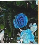 The Blue Pair Wood Print