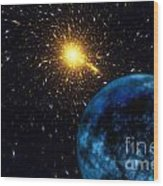 The Blue Planet Wood Print