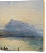 The Blue Rigi - Sunrise Wood Print