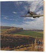 The Blue Skies Of Britain. Wood Print by Pete Reynolds